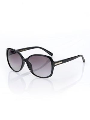 Sonnenbrille mit Strasssteinchen verziert