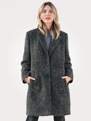 Manteau d'aspect laine