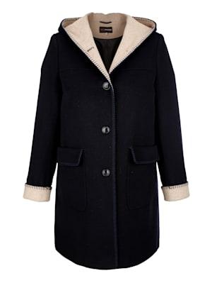Manteau à intérieurcontrastant
