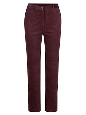 Pantalon en velours côtelé extensible