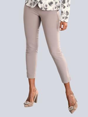 Hose mit dekorativen Zippern am Bund