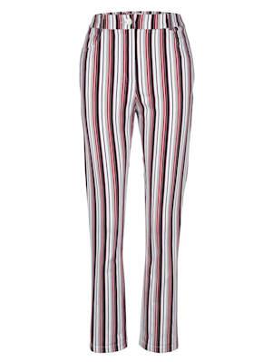Pantalon à rayures harmonieuses