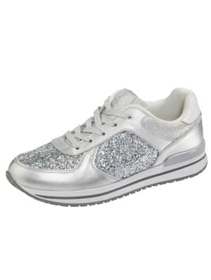 Sneakers dans une matière mélangée chic