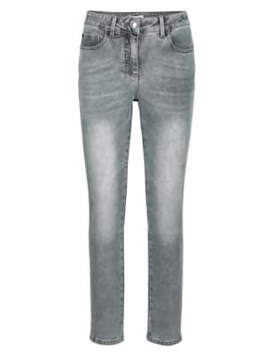 Jeans mit Galon im Streifen-Dessin