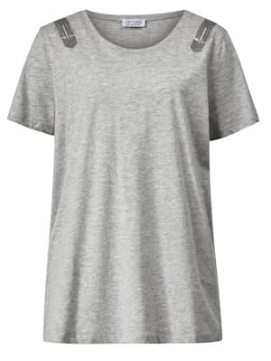 Shirt mit Glitzer-Details an den Schultern
