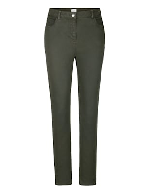 Trousers with a partially elasticated waist from size 18