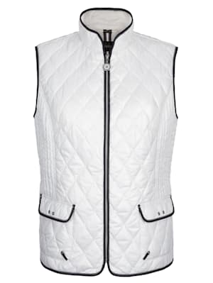 Quilted gilet with light padding