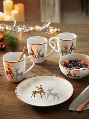 Set van 2 koffiemokken Dancing Deer