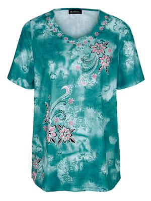 Shirt met dessin rondom