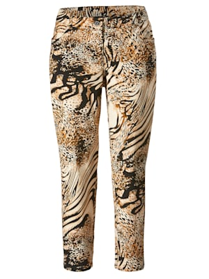Hose mit angesagtem Animal Print