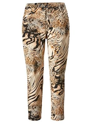 Pantalon à imprimé peau de bête tendance