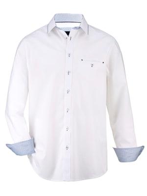 Overhemd van fijn structuurmateriaal