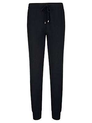 Pantalon à rayures contrastantes en maille intarsia
