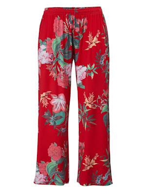 Pantalon en jersey à motif floral