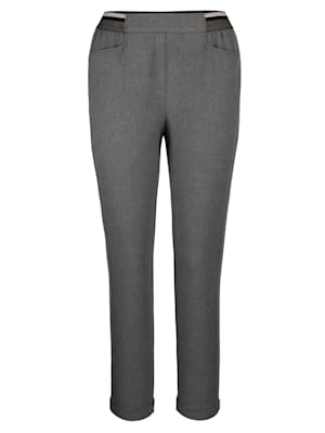 Pantalon à empiècement rayé côté