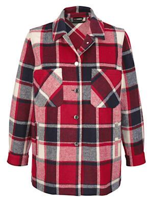 Veste-chemise à carreaux mode