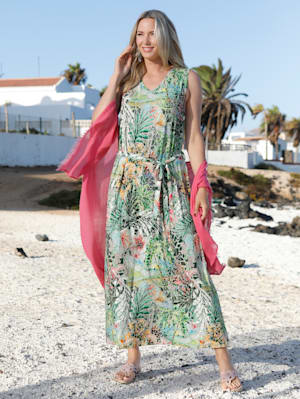Robe longue à motif coloré