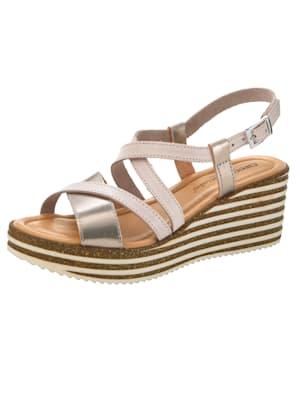 Sandales compensées à joli jeu de brides