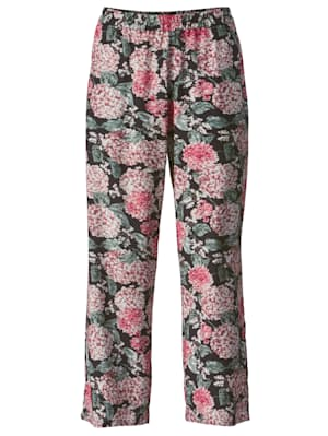 Pantalon à imprimé fleuri devant et dos