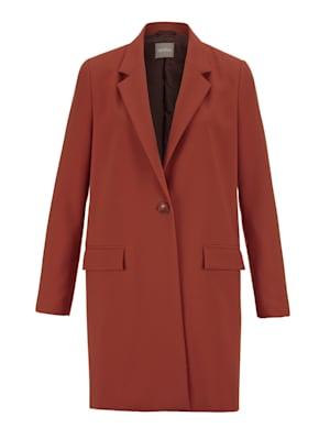 Longline blazer with a lapel collar
