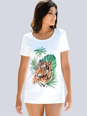 Strandshirt mit Glitzersteinen