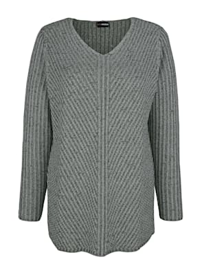 Pull-over en maille chinée