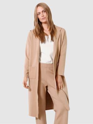 Pletený kabát bez zapínania