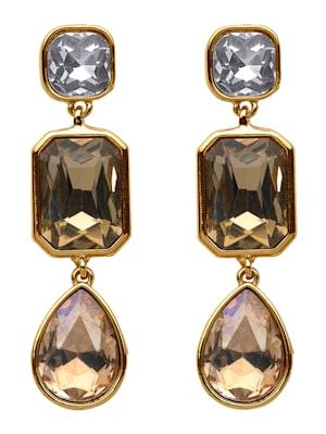 Boucles d'oreilles avec pierres de verre