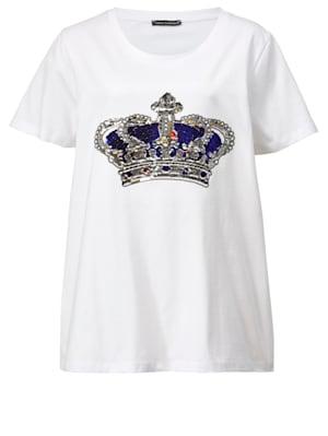 T-shirt à motif de couronne brillant