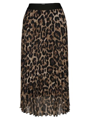 Skirt in a chic animal print