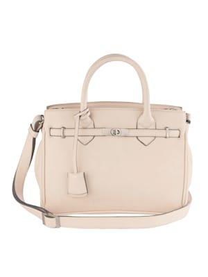 Handtasche mit Zierband und Drehverschluss