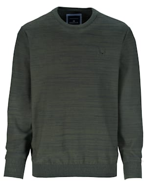 Pullover in zweifarbiger Optik