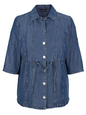 Veste-chemise en matière Tencel