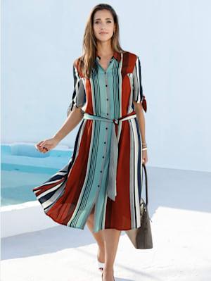 Kleid mit Streifendruck