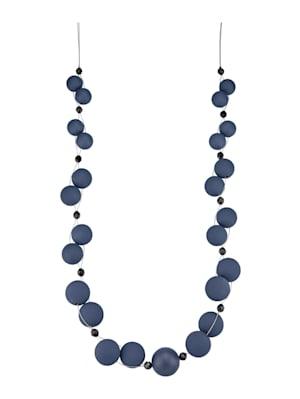 Collier avec perles fantaisie de coloris bleu