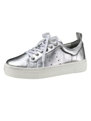 Sneaker in metallic look