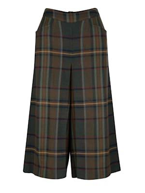 Hosenrock mit klassischem Karo-Muster