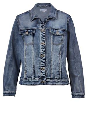 Jeansjacke mit dekorativem Rückenteil