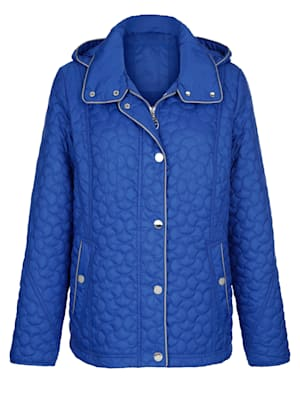 Quilted jacket with contrast detailing