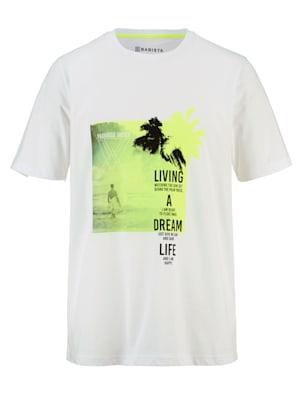 T-Shirt mit Kontrasten in Neon