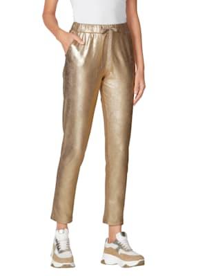 Pantalon d'aspect brillant