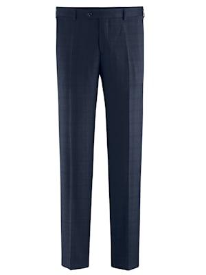 Pantalon de costume en laine en laine vierge mélangée