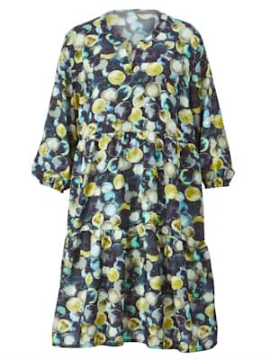 Web-Kleid mit farbharmonischem Druck