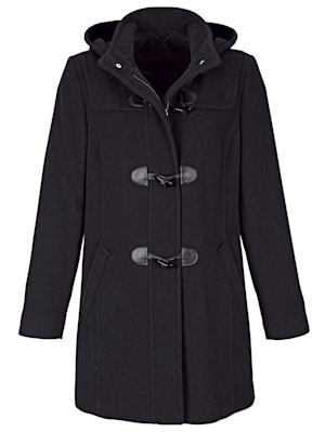 Duffle coat with a handy hood