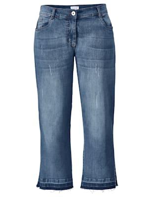 Jeans met zijsplit