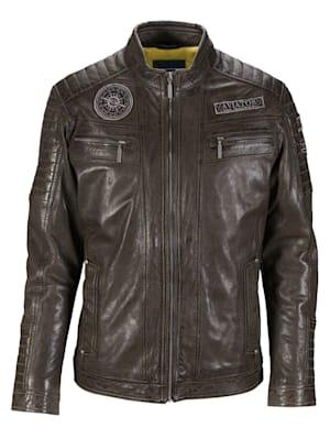 Veste en cuir de style motard