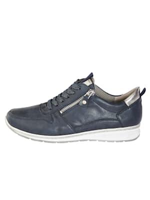 Šnurovacia obuv s jemne trblietavými šnúrkami