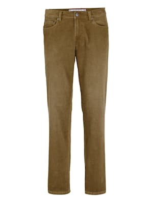 Pantalon en velours côtelé à effet usé