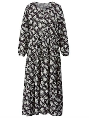Robe longue à patte boutonnée