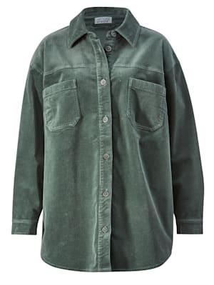 Veste-chemise en velours côtelé